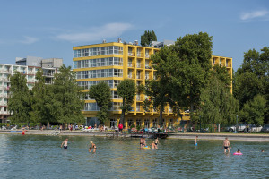 Hotel Lido from Lake Balaton